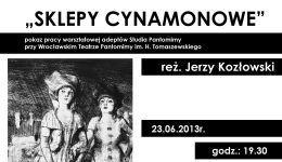 """(Polski) """"Sklepy cynamonowe"""""""
